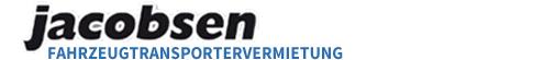 Logo Jacobsen Fahrzeugtransportervermietungen: feste Kosten, volle Leistung, ohne Risiko, top gepflegt, volle Auswahl, super flexibel, immer verfügbar
